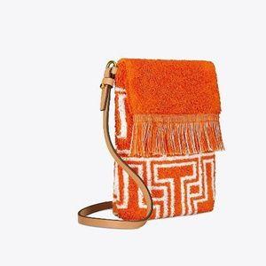 $128 Tory Burch Terry Towel Phone Cross Body Bag